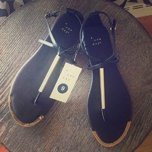 Black & Gold sandal